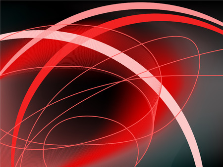vague: abstract black and red background with curved lines