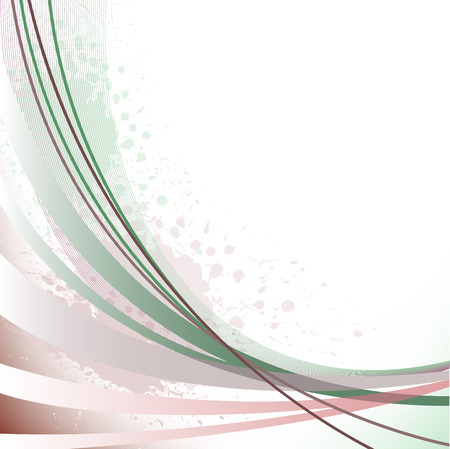 asymmetrical: abstract background with brown curved lines and spots of paint Illustration