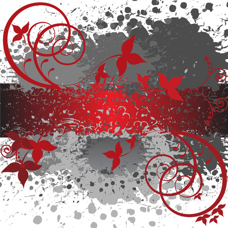 abstract gray and red background Stock Vector - 8977813