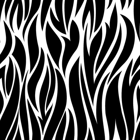 black and white seamless background from the chaotic, winding lanes Vector