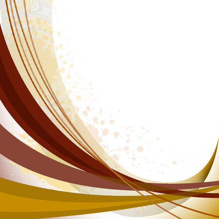 abstract background with brown curved lines and spots of paint Stock Vector - 8977818