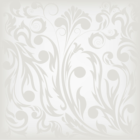 gray floral background, which can be used as seamless Stock Vector - 9113239
