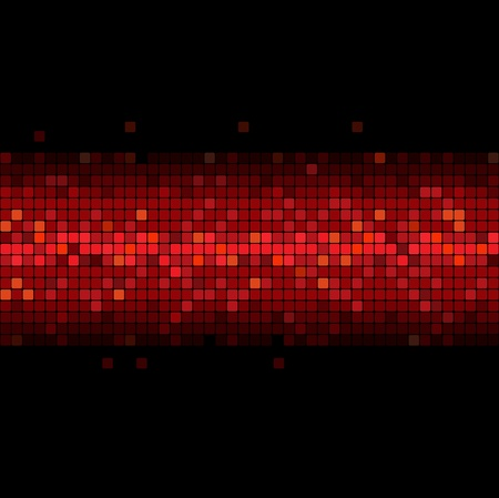 cellule: wide glowing red stripe on black background Illustration