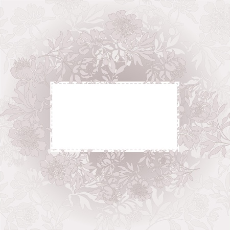 abstract background with a white card in a beautiful beige color Vector