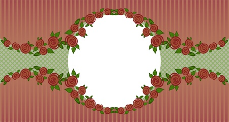 vignette of red roses on a dark striped background Vector