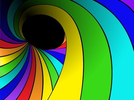dark background with rainbow swirl Vector
