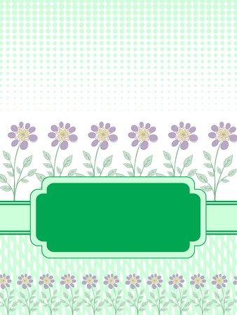 goodly: goodly green template frame design for greeting card