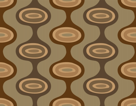 Seamless background of vertical brown stripes with ellipses Vector