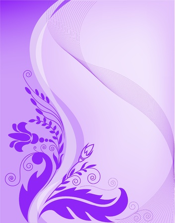 morado: abstracta degradado fondo p�rpura con elementos florales