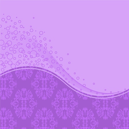 abstract purple background with two shades of the wave and rings Stock Vector - 9495009