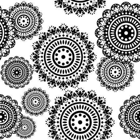 elipsy: bez szwu wzorek czarno-białych ornamentow Rundy