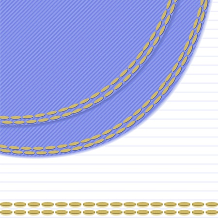 backstitch: white background with blue stitching tissue in the left corner