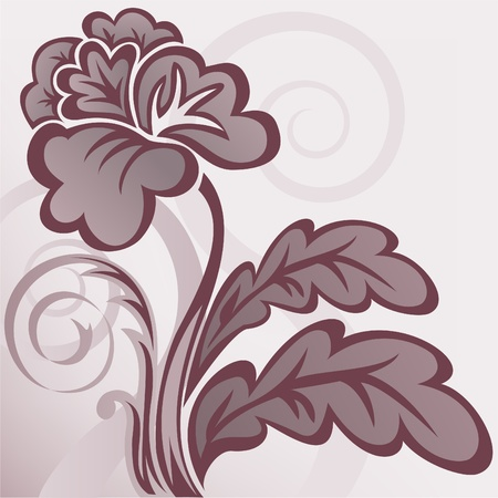 abstract background with a beautiful brown stylized flower Stock Vector - 9529050