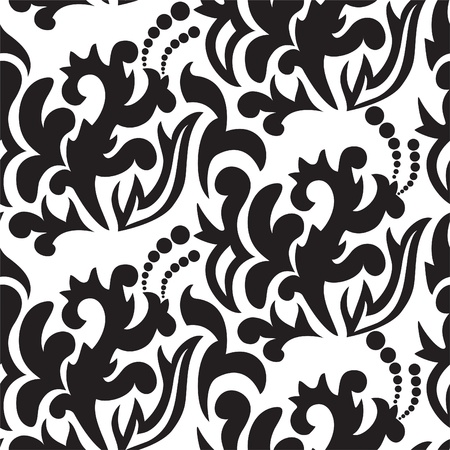 modern pattern: seamless white background with randomly placed black branches