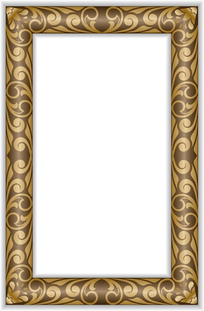 carve: rectangular vertical marco dorado en el viejo estilo