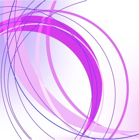 magenta: violet and blue arcs in the blurry white background