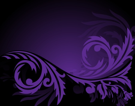 solemn: abstract black background with horizontal purple ornament