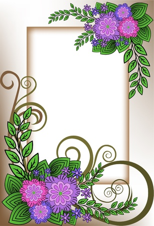 beautiful vertical frame of the lilac flower composition Vector