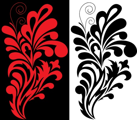 stylization: Black and red decorative element for your design