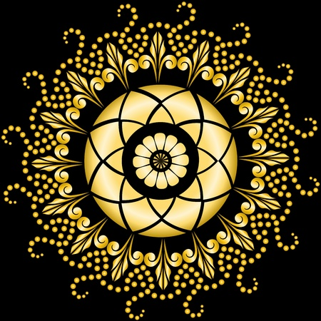 symmetry: beautiful circular pattern for your design