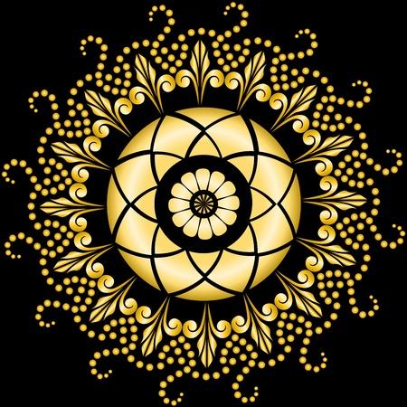 hermoso patrón circular para el diseño Ilustración de vector