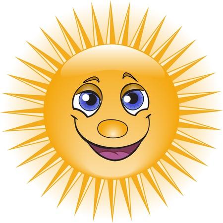 soleil rigolo: Orange fun sun avec un beau sourire