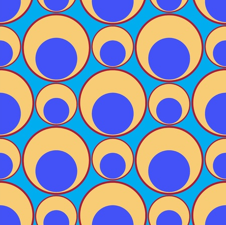 seamless background from yellow-blue circles Stock Vector - 9716508