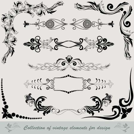 виньетка: коллекция старинных элементов для дизайна