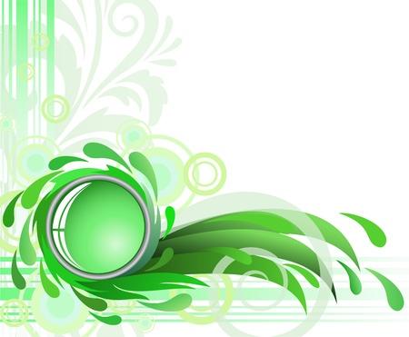 点眼薬とガラス緑背景