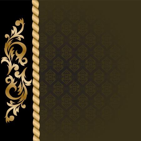 solemn: hermoso fondo negro con un vertical adornos de oro