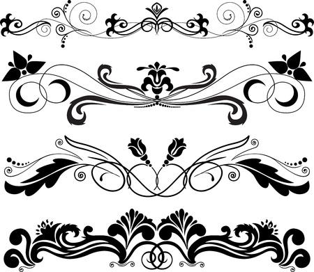 accents: Ilustraci�n: cuatro adorno decorativo horizontal