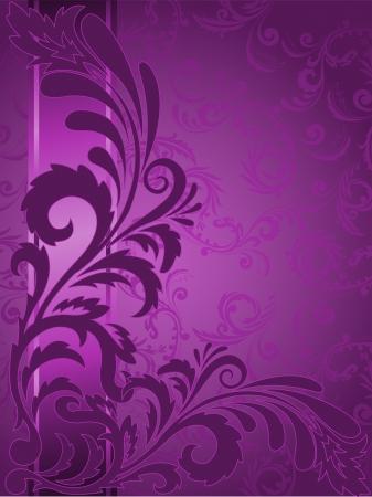abstracte paarse achtergrond met versieringen op de verticale strip