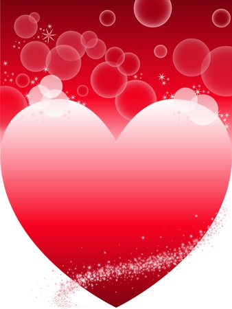 contrasty: contrasting red and white background with a big heart Illustration
