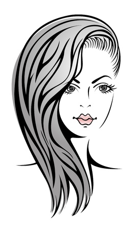 Glamour sketch of beautiful blonde girl