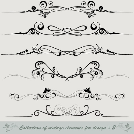 collection of vintage elements for design #2 Vector
