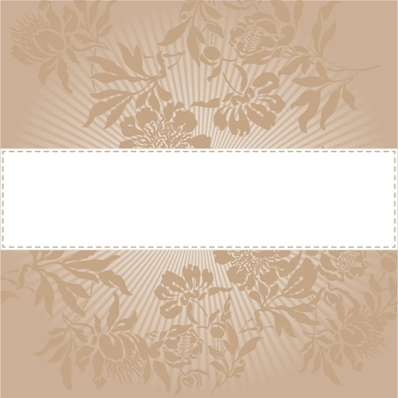radiant light: abstract background with a white band in a beautiful beige color
