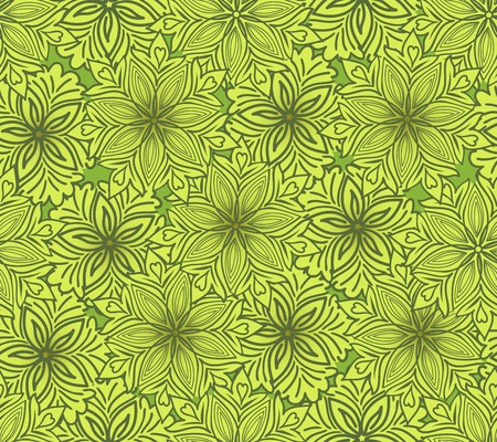 sheeted: mustard seamless background of beautiful flowers Illustration