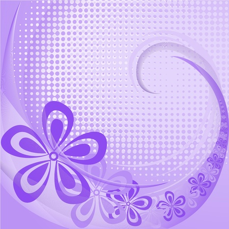 Abstract lpurple floral background with swirl and waves Stock Vector - 11118829