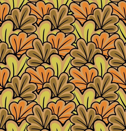 seamless background of stylized autumn leaves Vector