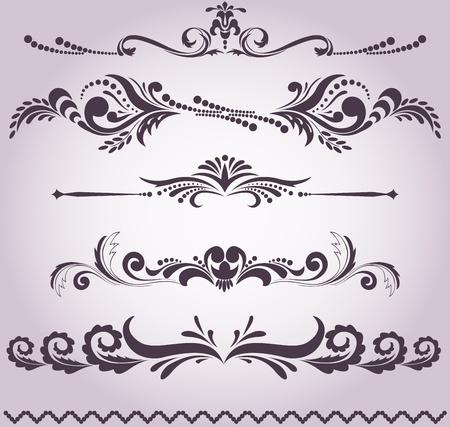 귀하의 디자인에 대 한 빈티지 장식 요소의 컬렉션 일러스트