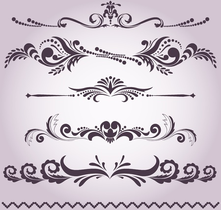 accents: colecci�n de antiguos elementos decorativos para el dise�o de su Vectores