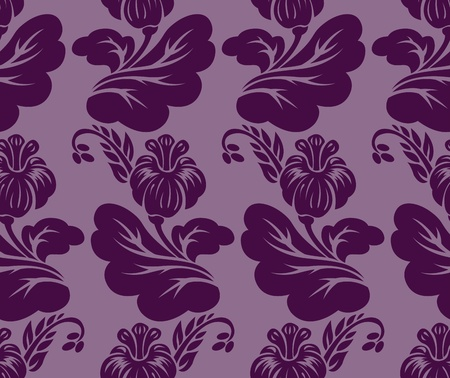 nosegay: seamless background with a beautiful violet floral ornaments