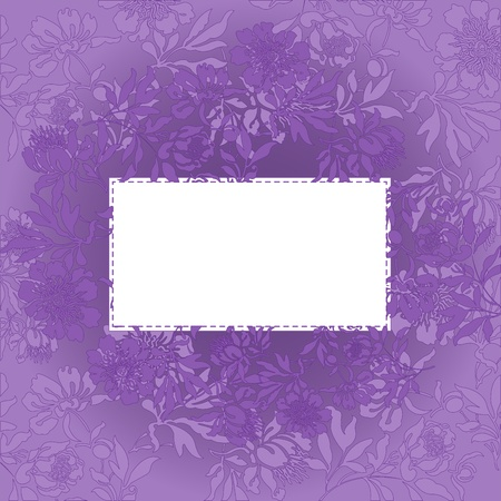 abstract background with a white card in a beautiful purple color Vector