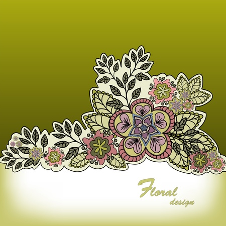 sheeted: mustard gradient background with a beautiful bouquet of hand-drawn