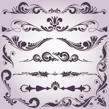 collection of vintage decorative elements for your design Vector