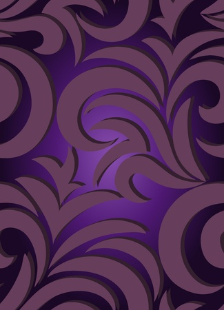 seamless purple background with a beautiful antique ornaments Vector