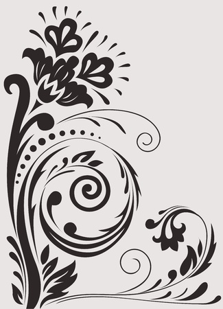 tattoo flower: beautiful floral element for your design Illustration