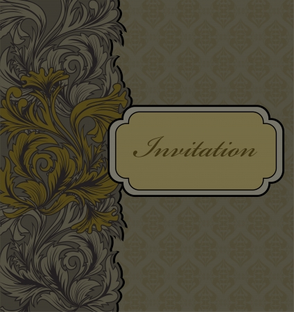 Beautiful invitation cards with vintage ornament Stock Vector - 15094511