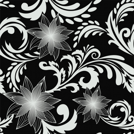 seamless background with a delicious floral ornaments Vector