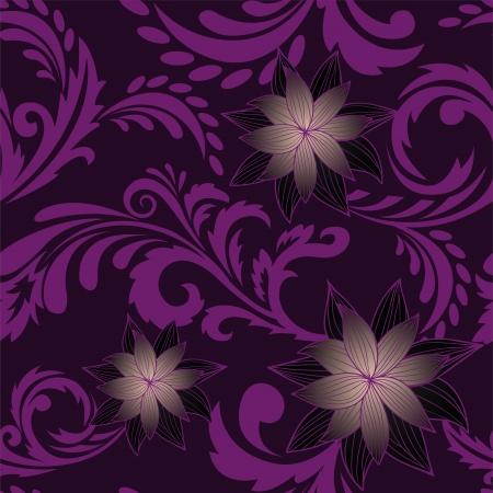 solemn: de fondo sin fisuras con una ornamentos florales deliciosas Vectores